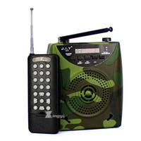 mini lecteur mp3 à distance achat en gros de-2200mAh Camouflage Portable Numérique 500 m Sans Fil Télécommande Télécommande Lecteur MP3 Oiseau Appelant Haut-Parleur Oiseaux Sound Call Device
