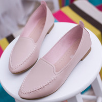 Wholesale Leather Driving Shoes Women - 2017 New Casual Loafers Women Genuine Leather Mother Shoes Moccasins Soft Leisure Flats Female Driving Ladies Footwear