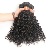 Kinky Curly Malesi Hair Bundles Tessera INDESIDERI Peruviano indiano Vergine brasiliana Capelli umani trame Extensions No Tangle