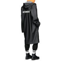 rüzgarlık yağmur toptan satış-VETEMENTS POLIZEI BOYUN KANYE WEST Ceket Büyük Patlama Genişletilmiş Yağmurluk Erkekler Kadınlar Rüzgarlık Siper Su Geçirmez Ceket Mont
