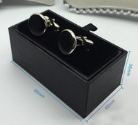 30 PCS Quality Black Faux Leather Velvet Cufflinks Holder Cuff Link Box Case