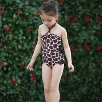 Wholesale Children S Clothing Leopard Print - Girls Leopard Print One Piece Swimsuits Children Swimwear Girl Baby Bathing Suits for the Pool Beach Swimming Children Clothing