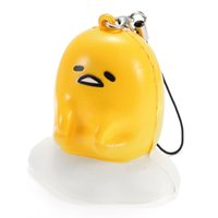 6cm Squishy Lazy <b>Egg Phone</b> Bag Strap Soft Squeeze Toy Collection Gift Decor