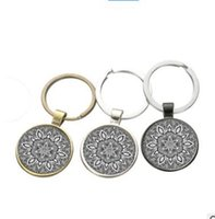 Wholesale Cheap Keychains Free Shipping - Keychain Mandala 2017 Fashion Geometry Keychains Alloy Jewelry for Women Gift Promotion Jewelry Cheap DHL Free Shipping