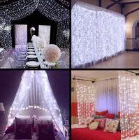 Wholesale Wedding Decor Ice - 1600 LED lights 10*5m Curtain Lights, led Lighting Strings Flash Fairy Festival Party light Christmas light wedding Decor