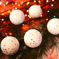 Wholesale Snowball Christmas Tree Ornaments - Wholesale-12PCS Diameter 4CM Christmas Snowball Balls Party Ornaments Christmas Tree Hanging Christmas Decorations for Home GM367