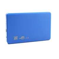 Wholesale enclosure portable - Wholesale- Cool Hi-speed USB 2.0 SATA 2.5 Portable HDD Hard Disk Drive 500GB Enclosure HD Box #75437