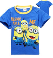 Wholesale Despicable Shirt Kids - new 2018 cartoon fashion despicable me minions clothes minion costume children's clothing children t shirts boys girl kids wear.