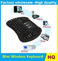 Wholesale Mini Mause - 2.4G Mini H9 USB Wireless Keyboard Touchpad Wireless Air Mouse Mause Fly Mouse Remote Control for MXQ pro X96 T95 dhl