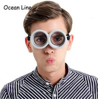 Wholesale Minions Costumes - My minion costume glasses fun party props 3D round glass birthday party supplies decoration TO141