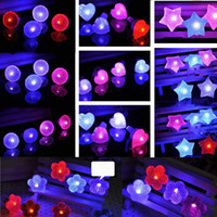 Wholesale Light Up Diamond Rings Wholesale - LED Diamond Flashing Rings Adjustable Led Crystal Round Heart Flowers Stars Ring Light Up Flashing Glow Flash Ring Party Disco Finger Lights