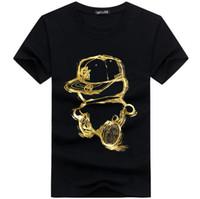 neue t-shirt design farbe männer großhandel-Freies Verschiffen Heißer 2017 Neue Farbe Design männer t-shirt Coole Mode Tops Kurzarm T-stücke