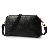 Wholesale hand bag flowers lady online - Ladies bag Korean fashion new hand bag Ladies Flower envelope bag