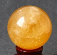 Wholesale Calcite Ball - Wholesale 1pcs AAA 40MM+SAND Natural Citrine Calcite Quartz Crystal Sphere Ball Healing Gemston!!!