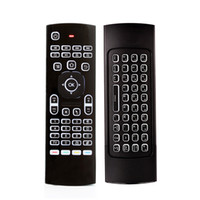 ingrosso mini tastiera apprendimento remoto-X8 Retroilluminazione MX3 Mini tastiera 2.4GHz telecomando senza fili Telecomando IR apprendimento 6 assi Fly Air Mouse retroilluminato Gampad per Android TV Box