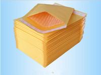 kraft mailer größen großhandel-Unbeschichtete Kraft Bubble Mailer Gepolsterte Umschläge Taschen Papier Geschenkverpackung CD Größe 122X178MM + 40MM Party Supplies DHL Digital Printing