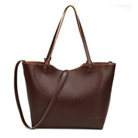 Wholesale Geniune Leather Handbag Women - Wholesale- Guaranteed 100% Geniune Leather Handbags Crossbody Bags for Women High Quality Crazy Horse Leather Large Tote Hand Bag bolsas
