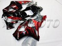 Wholesale Honda Cbr 954 Bodywork - New parts Fairing For HONDA CBR900RR CBR954RR 02 03 CBR 954RR 900RR CBR 954 900 RR CBR954 2002 2003 Bodywork Fairings set black red flame