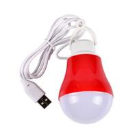 Wholesale Globe Market - usb led energy saving light bulb camping outdoor night market stall lights 5V mobile power charging treasure Emergency Light