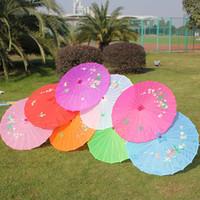 Wholesale Vintage Art Deco Painting - Dancing Props Umbrella Hand-Painted Vintage Umbrellas Art Deco Painted Parasol For Wedding Dance Party Windproof Umbrella Large Size