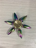 Wholesale Bullet Action - New EDC Tri-Spinner Bullet Fidget Toys Pattern colorful Hand Spinner Metal Fidget Spinner And ADHD Adult Decompression Toys Action