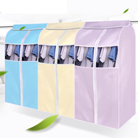Wholesale suit dust covers - Wholesale- Suit Coat Dust Cover Clothing Clothes Garment Protector Wardrobe displaying Storage Bag