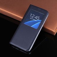 Wholesale Wholesale Cell Phone Smart Covers - Smart View Case For S8 Plus Auto Sleep Wake Up Flip Cover Cell Phone Cases With Magnet For Samsung Galaxy S8 S8Plus S8+