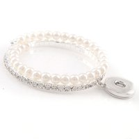 2017 Interchangable Metal CrystalBeads Fit 18mm Snap Buttons Vintage Snaps Button Браслет DIY Ювелирные украшения Charm BraceletsBangles