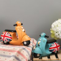 Wholesale Statues For Home - Locomotive Motorcycle Decor Resin Design Model Figurine Statue Artificial Best Gift For Home Accents Antique Art