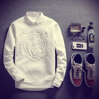 Wholesale Mens Stock - 2017 Sping Summer Mens 3d T Shirt Long Sleeve MenTiger Patterned Embossing T-Shirts 4XL 5XL dongguan_wholesale in stock 1000pcs