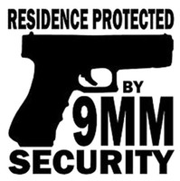 Wholesale Window Film For Homes - 15CM*14.7CM Residence Protected By 9MM Security Vinyl Sticker Home Defense Car Sticker for Car Accessories Decoration