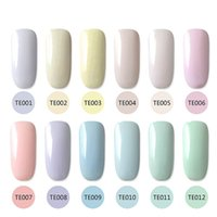 Commercio all'ingrosso- 12 colori 5 ml che femminile macaron gel soak off led uv nail art polacco manicure gel fai da te salon te #