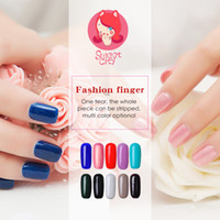 Wholesale Sweet Colors Nails - Wholesale-24 Colors Gel Polish Sweet CITY Brand High Quality UV LED Nail Lacquer Long Lasting Nail Gel Varnishes 10ml