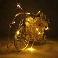 Vente en gros-Prix en gros USB Powered DC5V 6.5 + 5ft câble 20 LED Fairy Light String Noël Noël Mariage Home Party Decor Lampe
