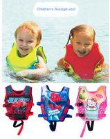 Wholesale Cool Boys Swimwear - Wholesale- 5-10 Years Child Swim Vest Kids Swimming Learning Jacket Ring Life Jacket Cartoon Floatable Swimwear Boy Girl Cool Rafting Vest