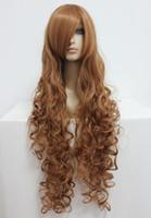 Wholesale Code Geass Free - MCOSER Fashion Women Hair New Design Code Geass Nunnally Vi Britannia 90cm Long Wavy Brown Cosplay Wig Free Shipping