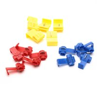 Wholesale quick lock connector online - 300pcs Suyep Quick Splice Lock Wire Terminals Connector Electrical Crimp Red blue yellow assortment kit