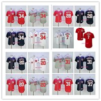 Wholesale National Jerseys - 2017 new Washington Nationals 7 Trea Turner 34 Bryce Harper 20 Daniel Murphy 28 Jayson Werth 37 Stephen Strasburg 31 Max Scherzer jerseys