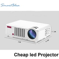 Wholesale Led Low Cost - Wholesale-2016 low cost LED home theatre projector full hd lcd beamer support 1080P 3d game video cinema projectors very good performance