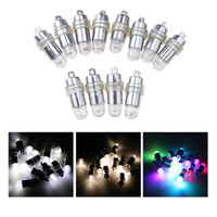 30 Pcs Lote Branco RGB Led Lâmpadas Waterproof Balloon Lights para Paper Lantern Party Wedding Centerpieces Decoração Vasos 2016 Novo