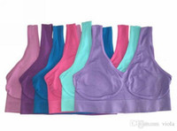 Wholesale Yoga Tops Medium - High Quality 9 colors sport Sexy Bra women yoga bra Slimming Underwear Seamless top quality