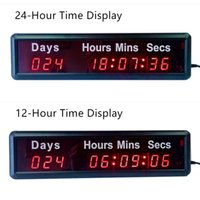 Horloge Murale Moderne Pas Cher-Wholesale- THE DAYS COUNTDOWN TIMER Belle Grande LED Horloge Murale Numérique Design Décoration Décoration 3D Décorative Digital-watch