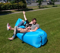 Wholesale Popular portable lazy air sofa outdoor inflatable sofa bed beach folding lazy sleeping bag Hot sell in USA