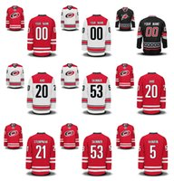 Wholesale Nhl Jersey Number - Customized Carolina Hurricanes Jerseys 20 Sebastian Aho 21 Lee Stempniak 53 Jeff Skinner Custom NHL Hockey Jerseys Stitched Any Name Number