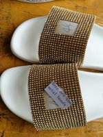 Wholesale Cloth Slippers - The latest product sandals Gold Diamond Men's slippers wholesale FREE SHIPPING