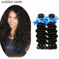 Wholesale Luxury Malaysian Deep Curly Hair - Grade 8A Women Luxury Brazilian Human Hair Weave Deep Wave Afro Kinky Curly Human Remy Hair Weave Malaysian Virgin Hair Extensions 3Bundles