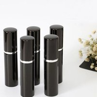 Wholesale Scented Case - Black 5ML Hot Search Mini Portable Travel Refillable Perfume Atomizer Bottle For Spray Scent Pump Case 5ML Empty Bottles Home Fragrances