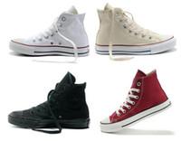 tops de encaje de mujer al por mayor-Venta de la fábrica NUEVO size35-45 Nuevo Unisex Low-Top High-Top Adultos Zapatos de lona de los hombres 14 colores con cordones Zapatos casuales Zapatos de la zapatilla de deporte