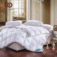 Wholesale royal duvet - Wholesale- BeddingOutlet Royal Comforter Goose Down Feather Quilt Super Soft White Qualified Duvet Queen King Size Bedclothes