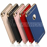 Wholesale Hard Back Case Plastic - Fashion Luxury Removable Hybrid 3 in 1 Electroplate Hard Plastic Case PC Electroplating Back Cover For iPhone 7 Plus 6 6S 5
